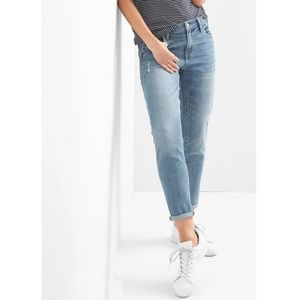 Gap Mid Rise Distressed Girlfriend Jeans